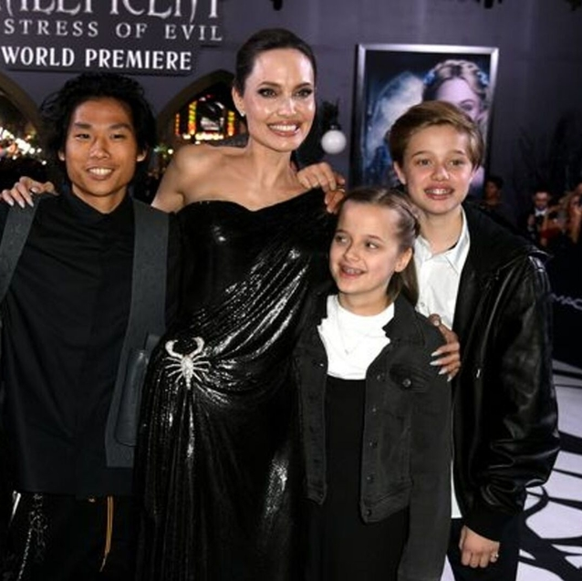 Angelina Jolie's Kids Join Her at Maleficent Premiere