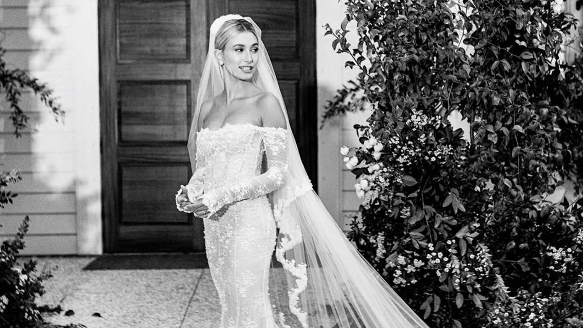 All the Details Of Hailey Bieber's Custom Virgil Abloh Wedding Dress
