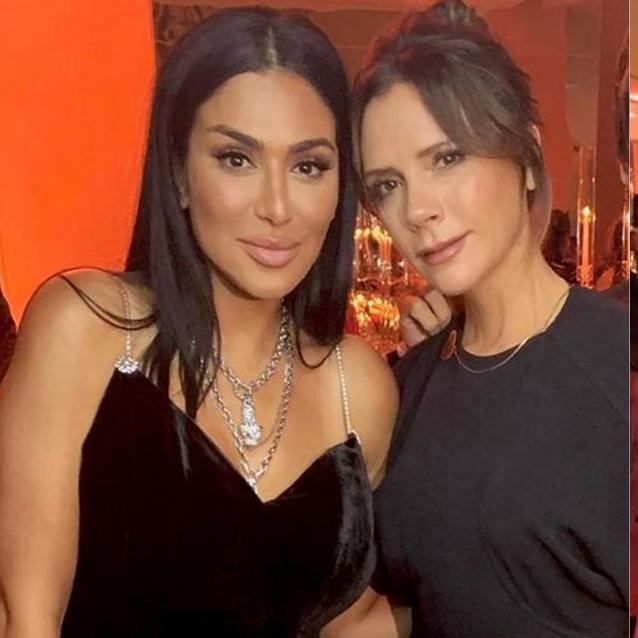 Huda Kattan And Victoria Beckham Were Inseparable At The Bazaar Capsule Dinner Last Night