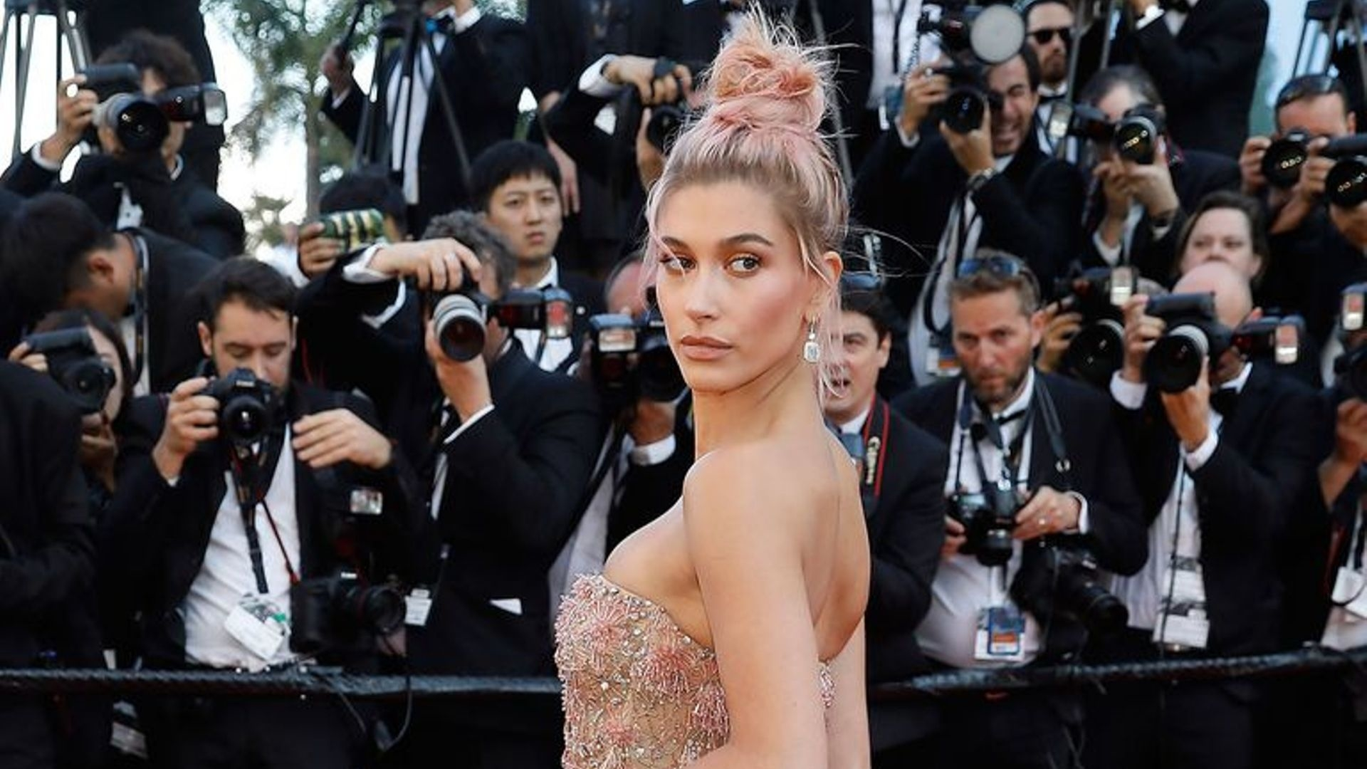 Hailey Bieber Teamed Her Vera Wang Wedding Gown With Trainers