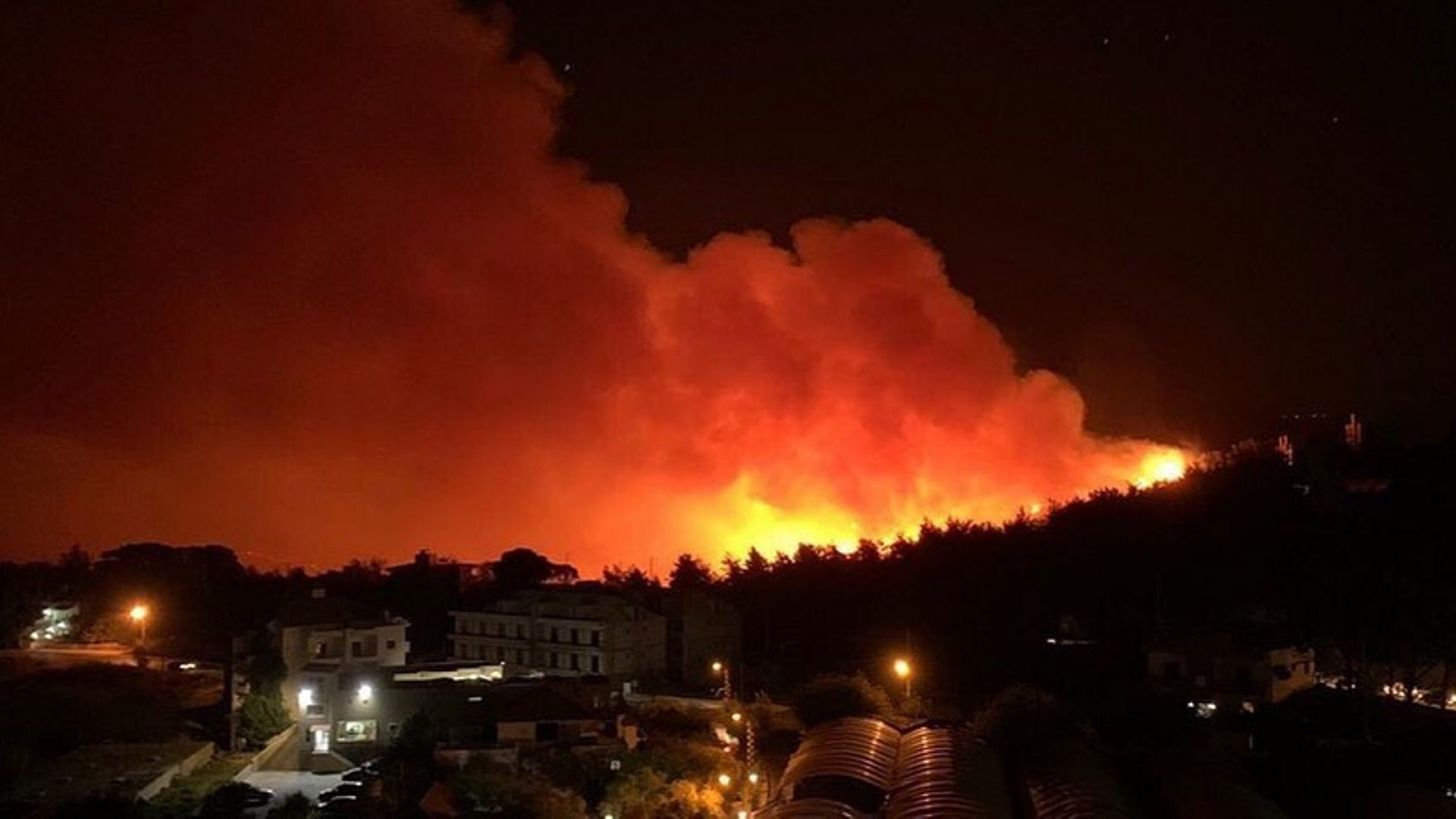 Massive Forest Fires Are Raging In Lebanon's Chouf Mountains