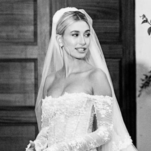 Hailey Bieber Reveals The Secret Details Hidden In Her Off-White Wedding Gown