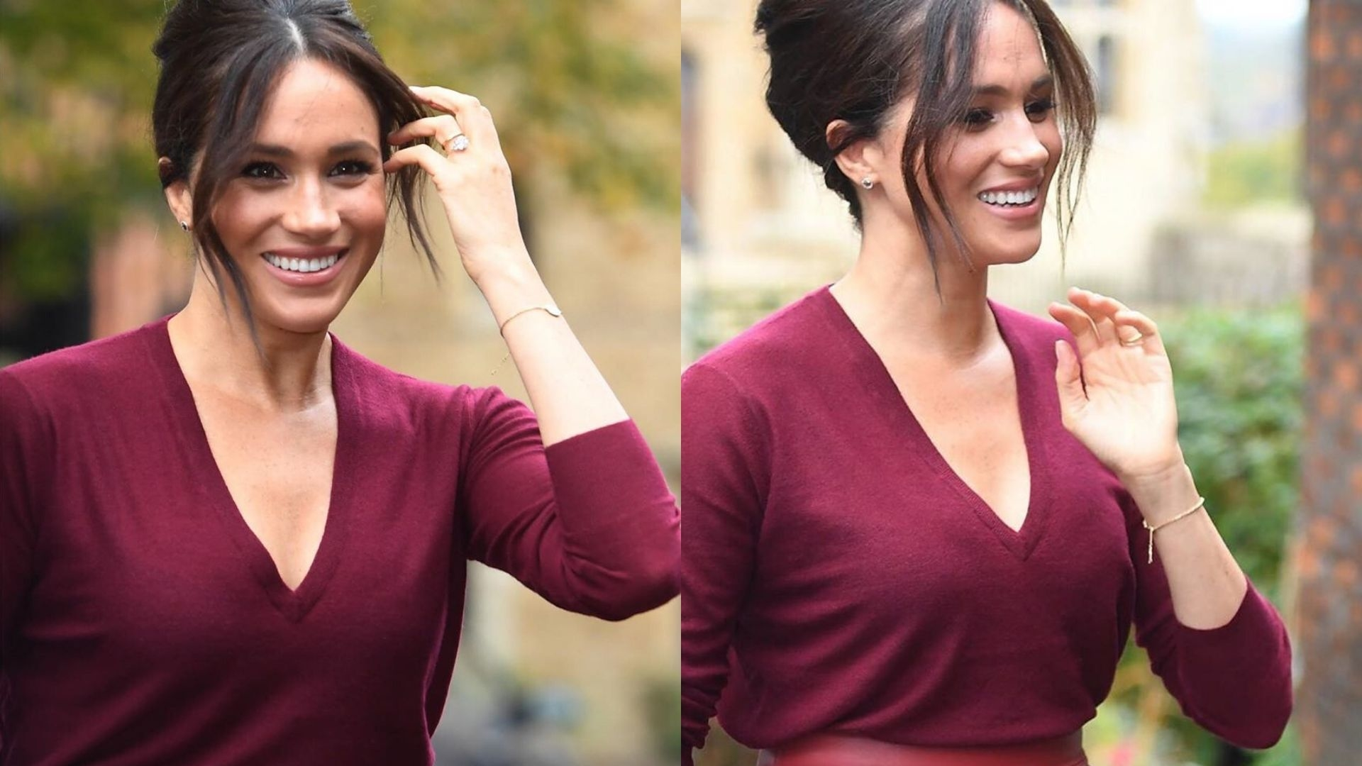 Meghan Markle Gives Us All A Lesson In Autumnal Styling With Latest Burgundy Outfit