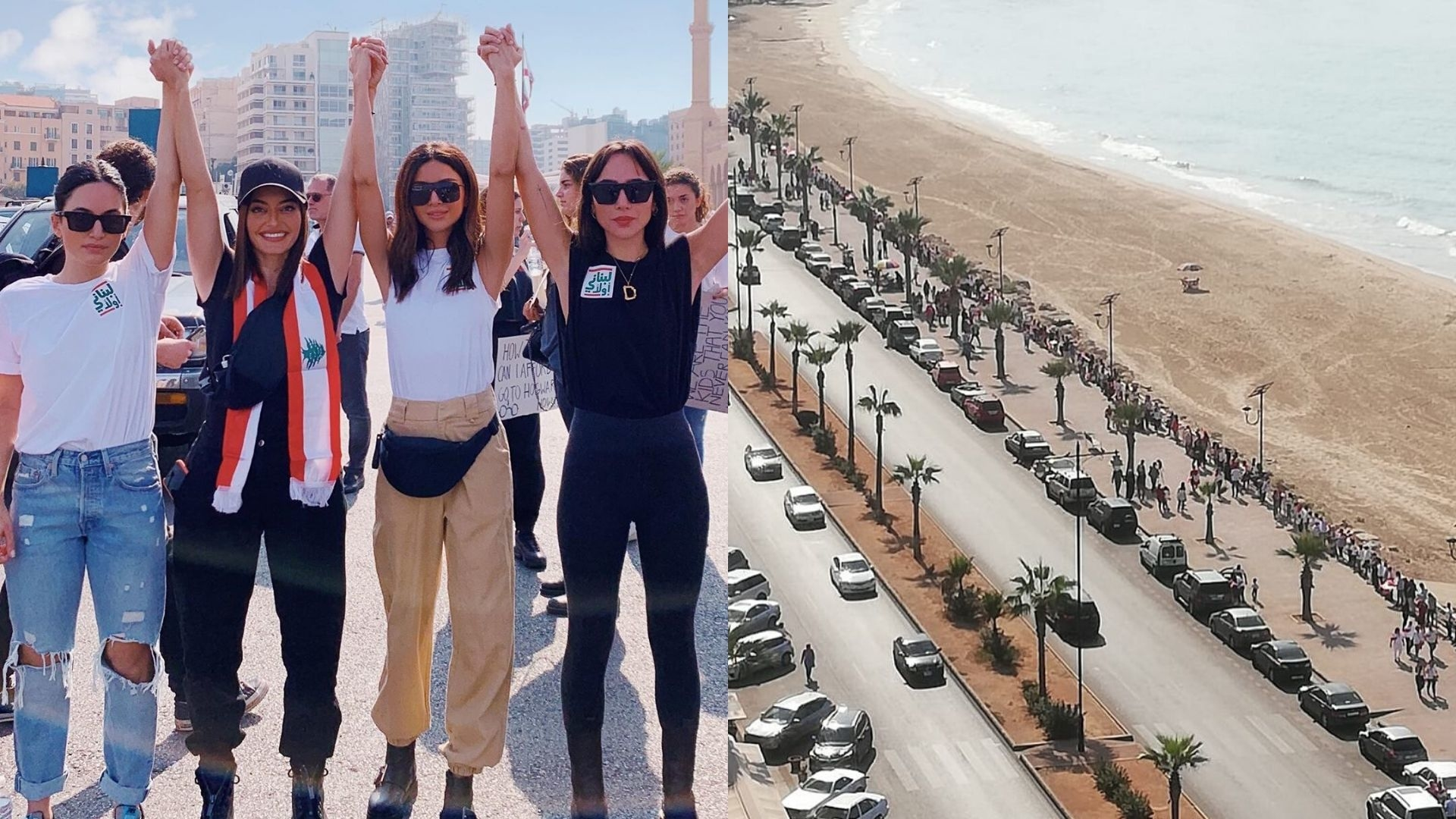 Lebanon's Protesters Formed A Human Chain Across The Country