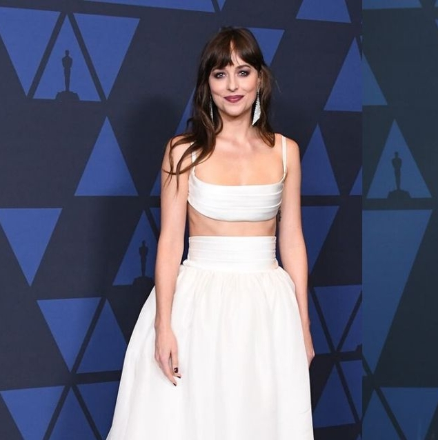 Dakota Johnson Looked Amazing In Bridal-Inspired Brandon Maxwell Last Night