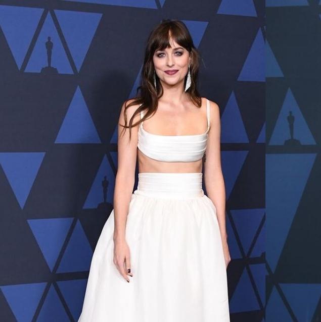 Dakota Johnson Looked Amazing In Bridal-Inspired Brandon Maxwell Last Night