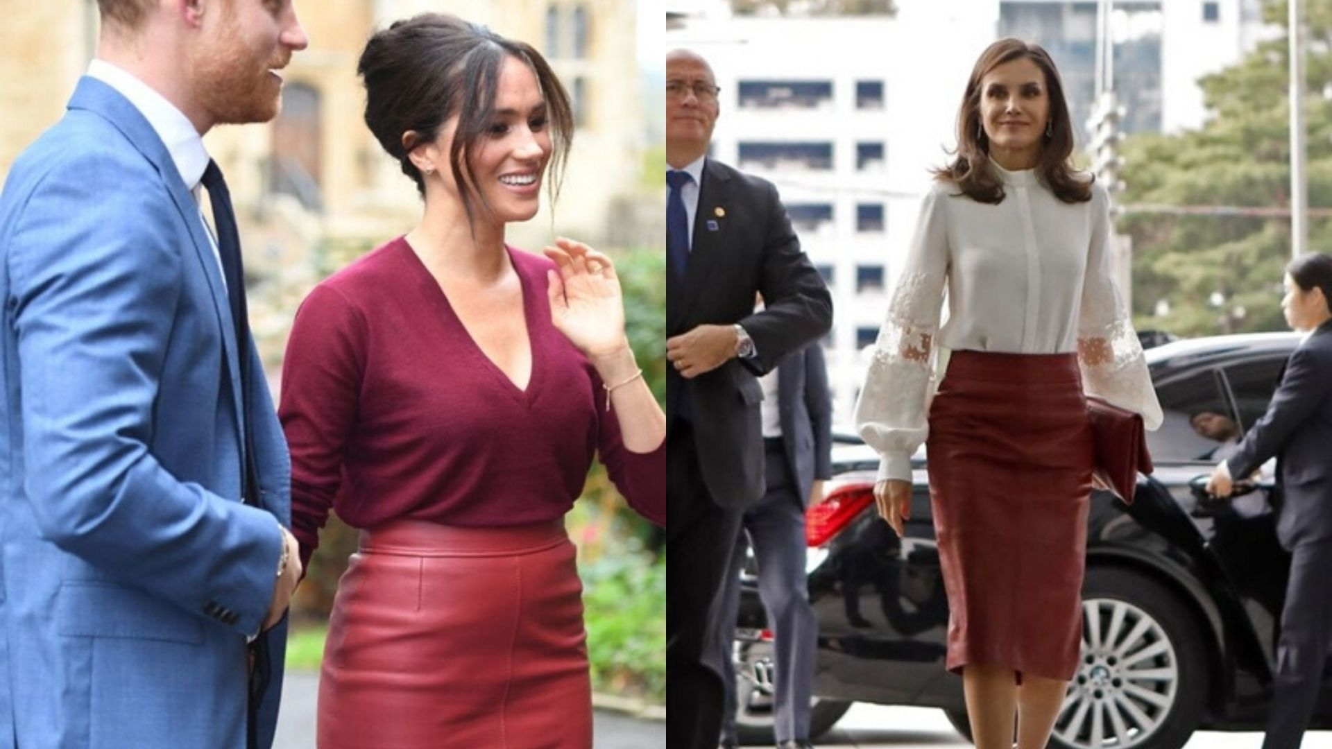 Queen Letizia And Meghan Markle Have A Royal Twinning Moment