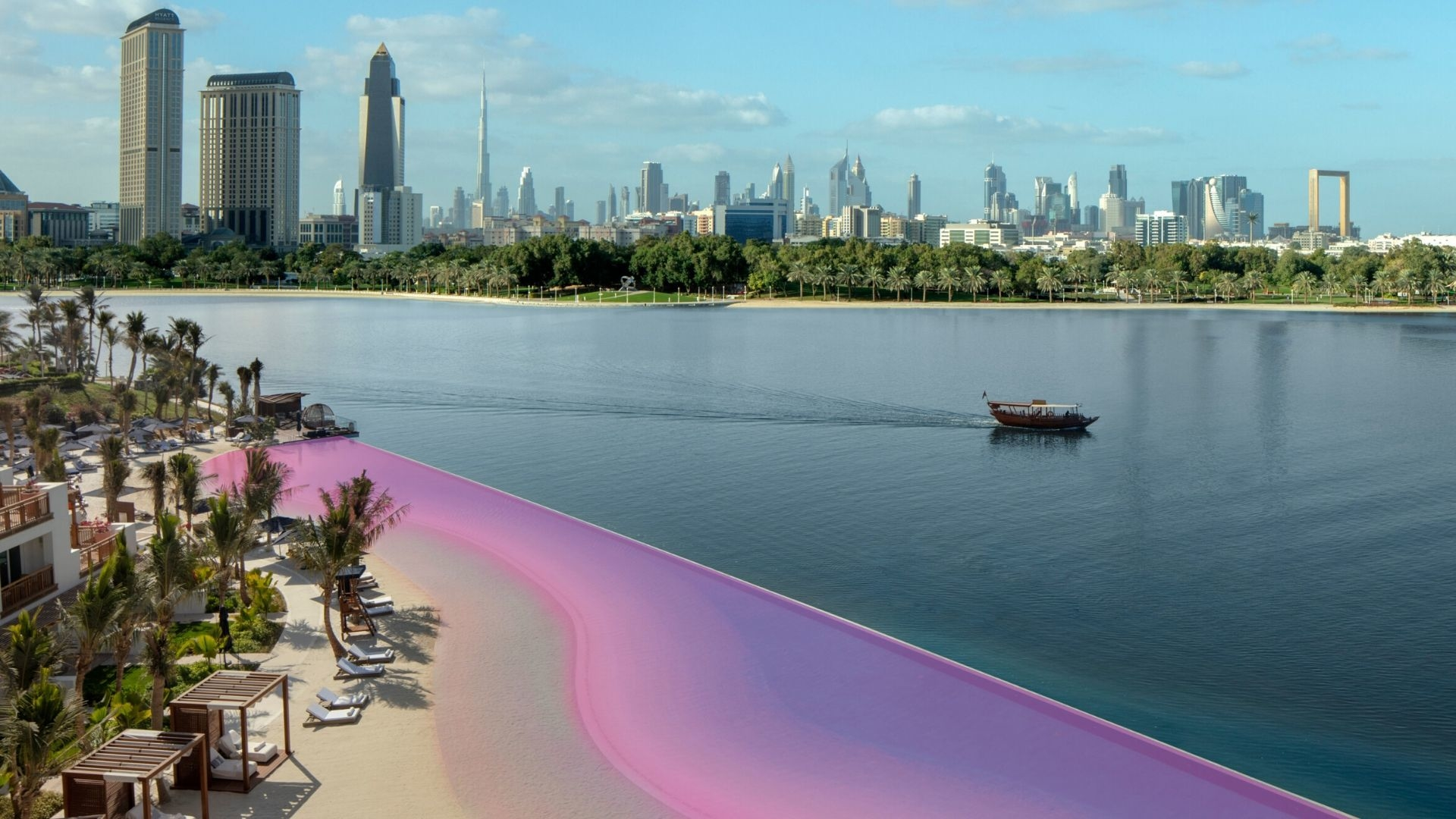 This Dubai Resort Just Turned Their Beach Pink For Breast Cancer Awareness