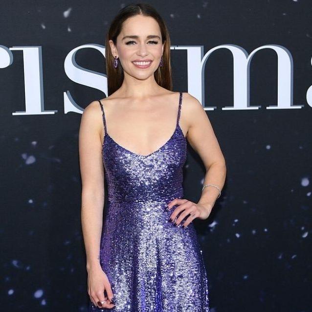 Emilia Clarke Glows In A Purple Valentino Gown At Last Christmas Premiere