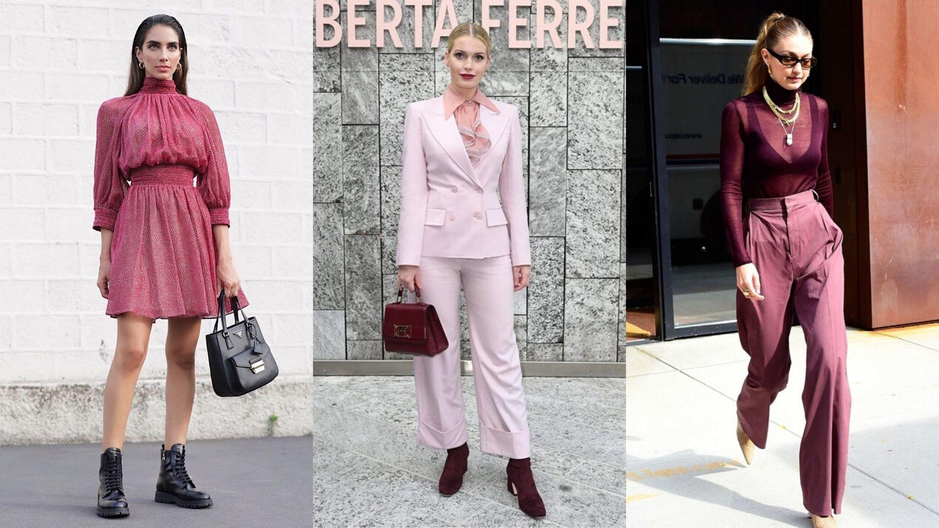 Every Single Celebrity That Mastered The Autumnal Burgundy Trend