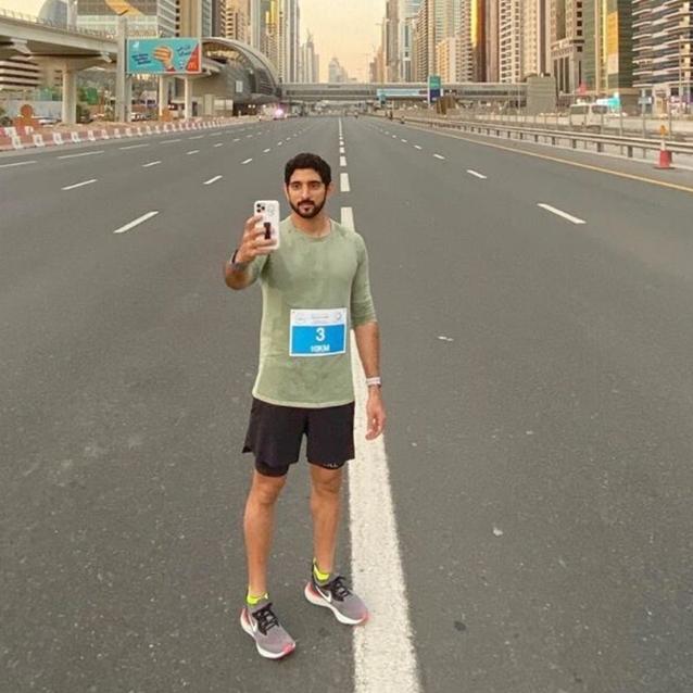 Sheikh Hamdan Led Over 70,000 Participants Across The Finish Line At Dubai Run