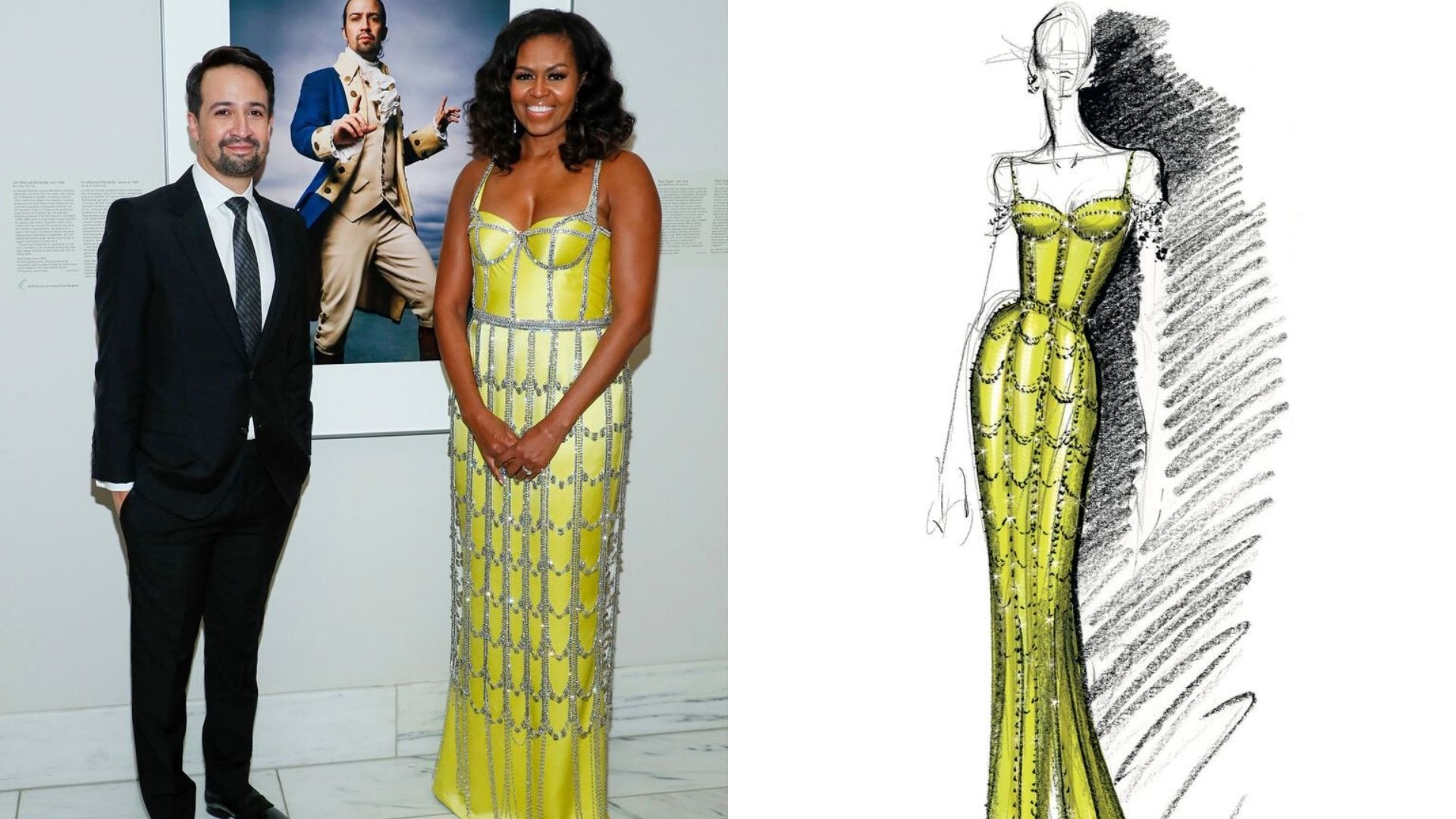 """Michelle Obama's Schiaparelli Gown Was Designed To Match Her """"Strength And Energy"""""""