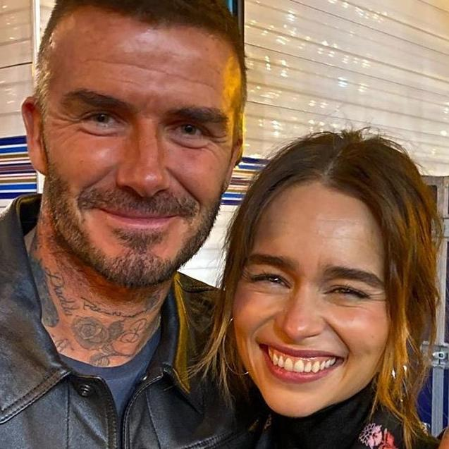 "David Beckham Was ""Star Struck"" After Meeting Emilia Clarke"