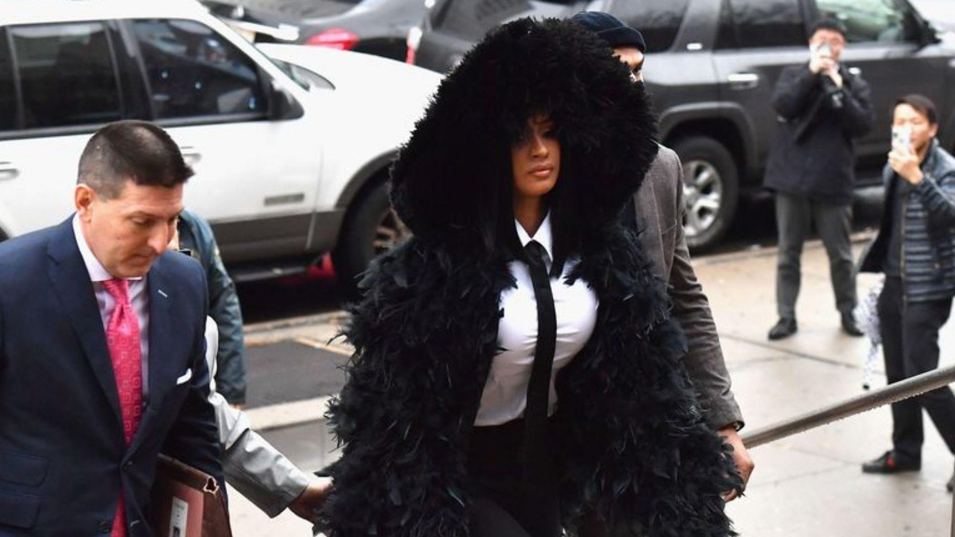 Cardi B Ruffles Feathers In Queens Court