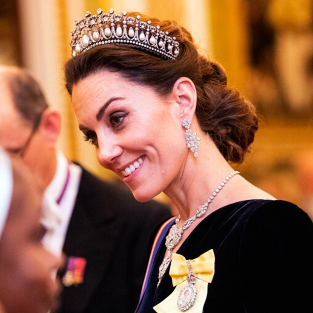 Kate Middleton Just Wore One Of Princess Diana's Most Iconic Tiaras