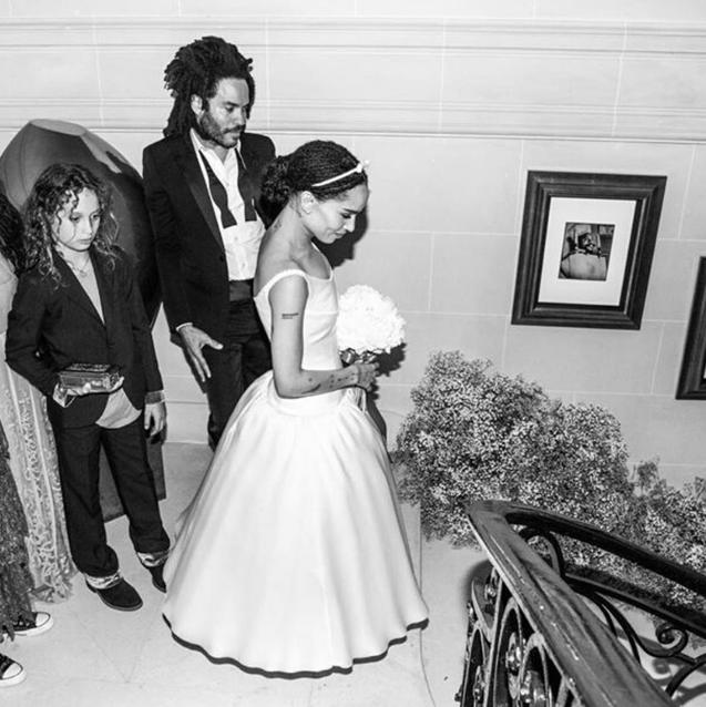 All The Photos From Zoë Kravitz's Dreamy Parisian Wedding
