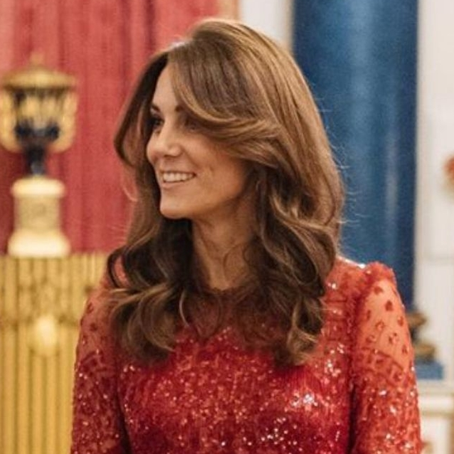 Kate Middleton Just Wore A Glittery Red Dress At Last Night's Buckingham Palace Reception