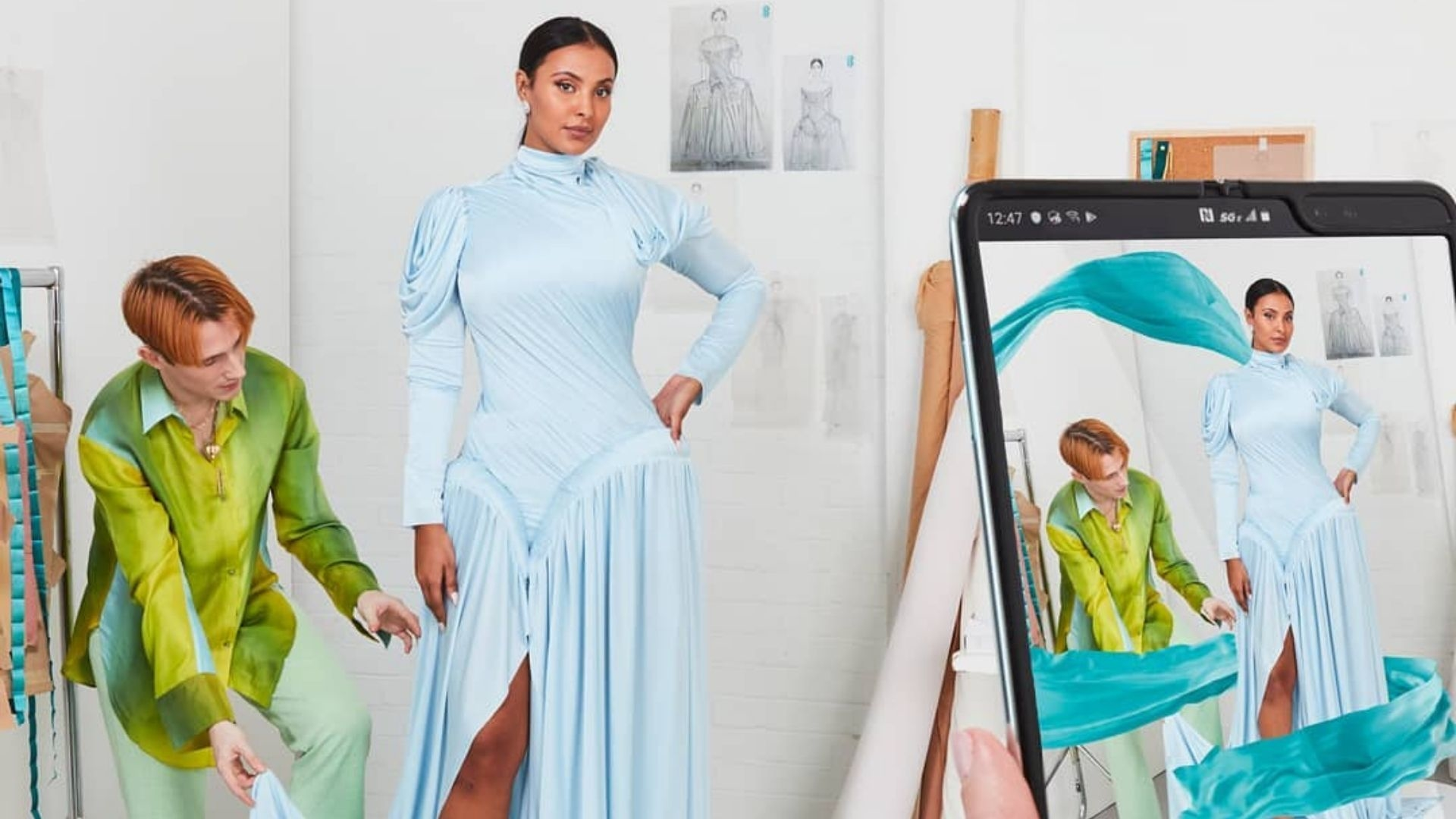 Maya Jama Wore The World's First Augmented Reality 5G Dress To The BAFTAs