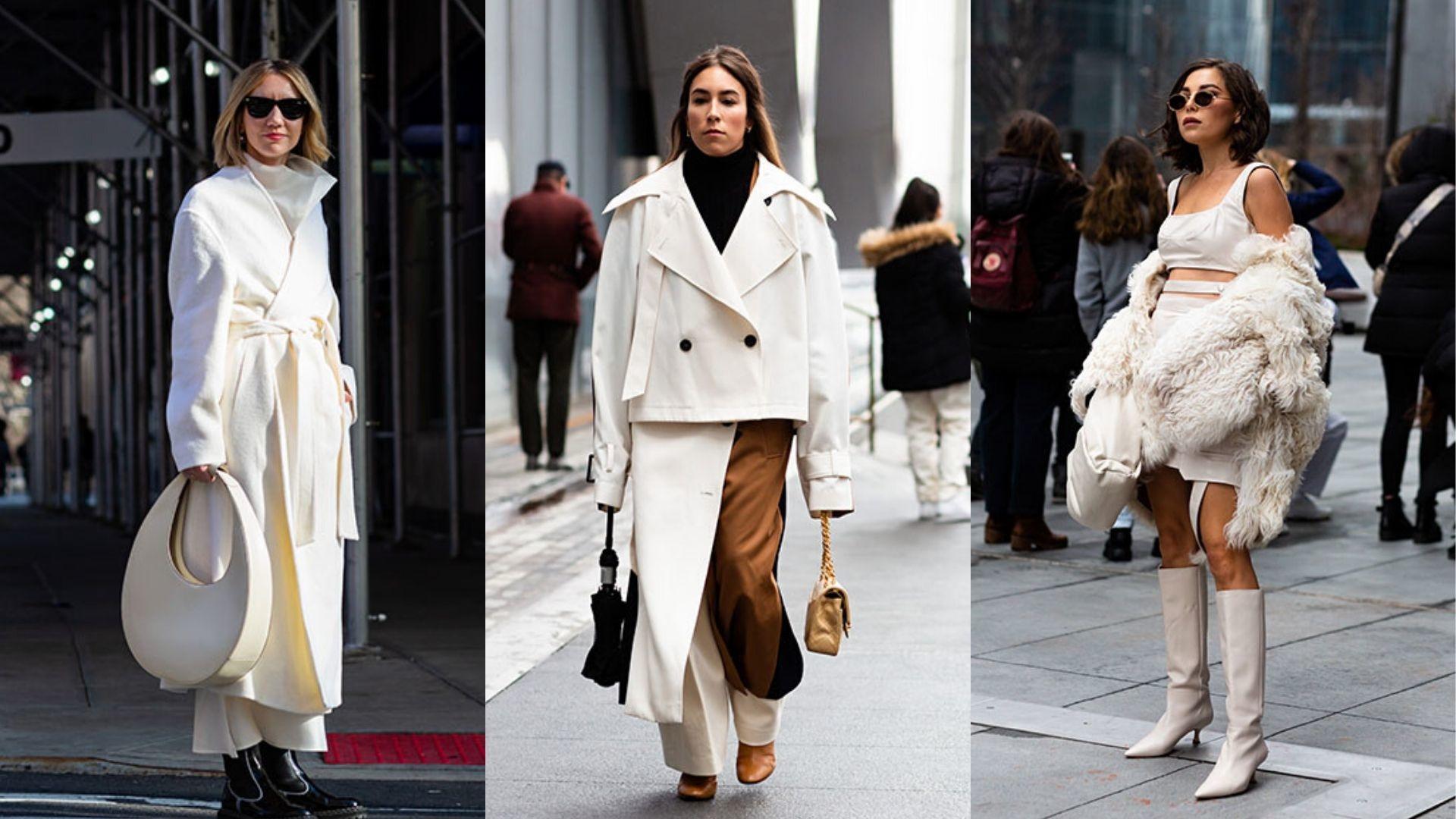 Fashion Week Street Style: Winter Whites