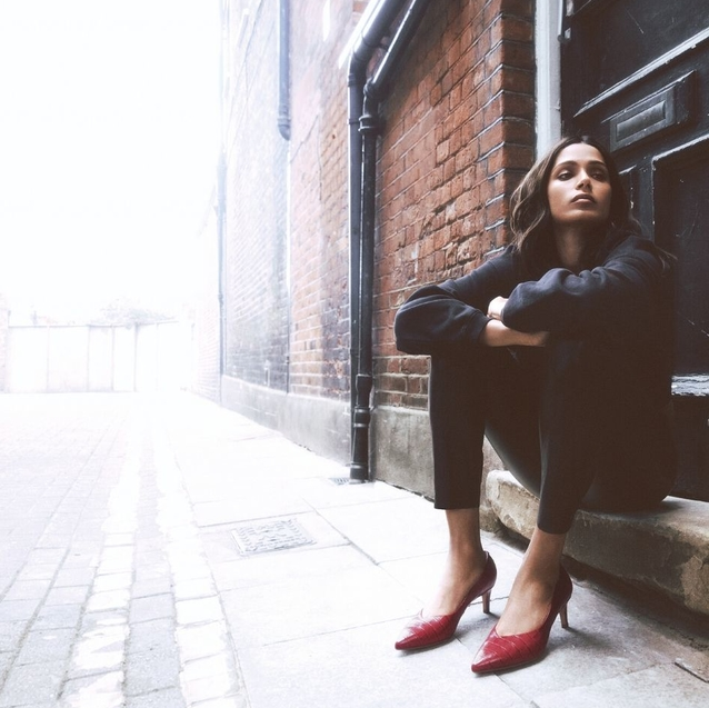 #BAZAARLoves: Frida Pinto Pays Homage To British Music Culture In Clarks' S/S20 Campaign