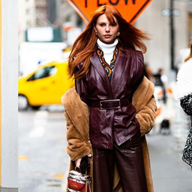 Fashion Week Street Style: Leather Everywhere