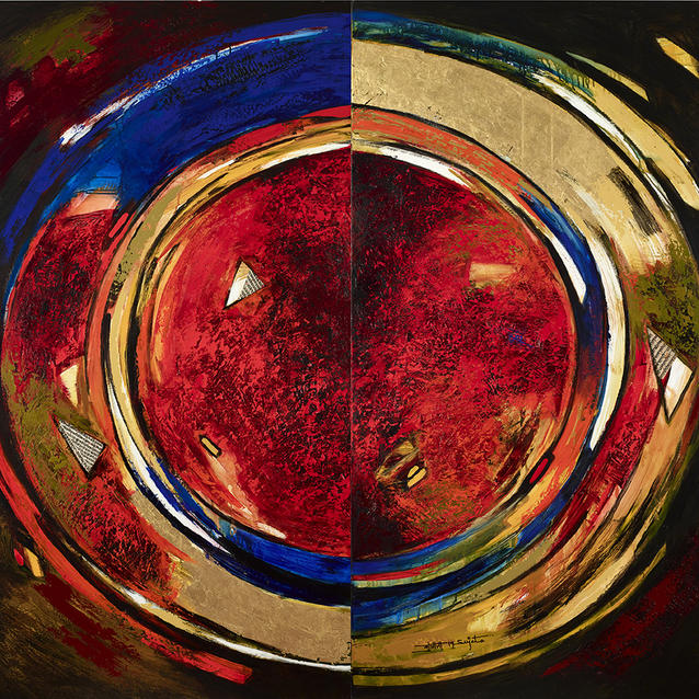 We Explore Indian Artist Sujata Bajaj's Abstract Works