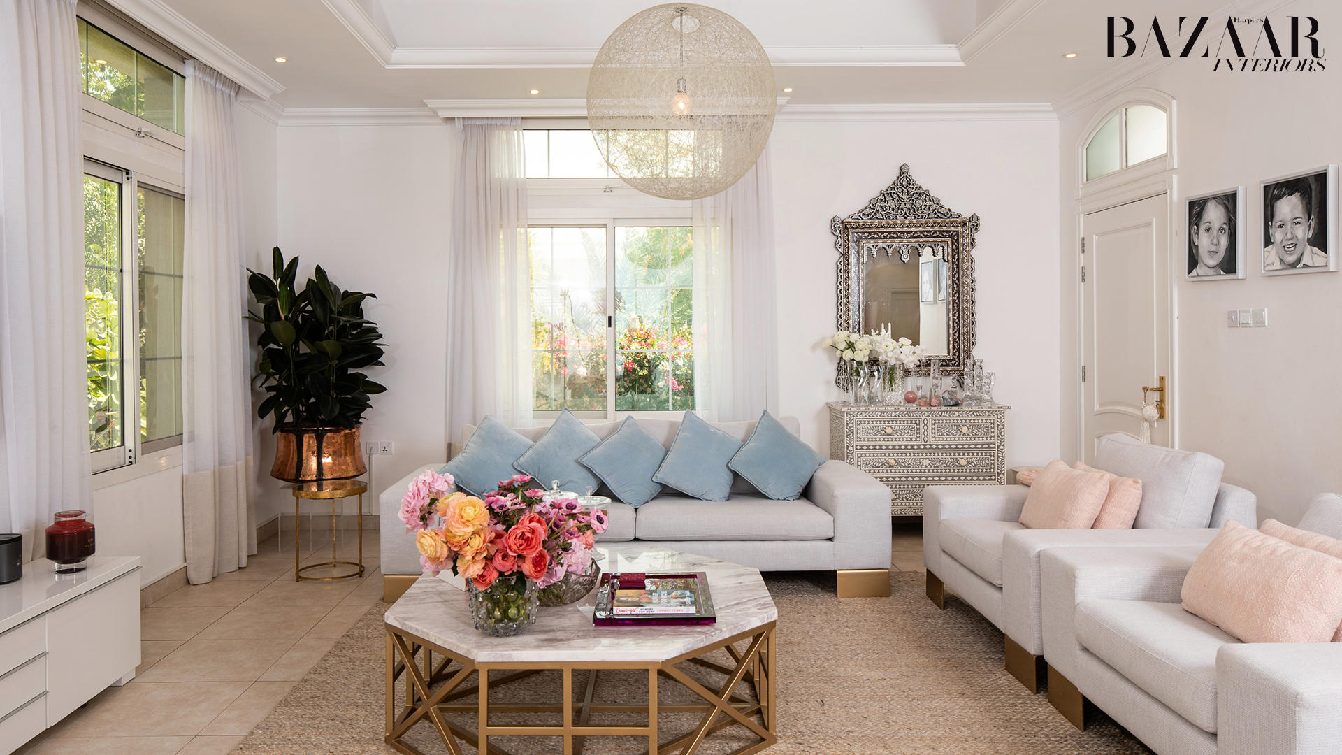 We Can't Get Enough Of This Stunning Flower-Filled Home In Dubai