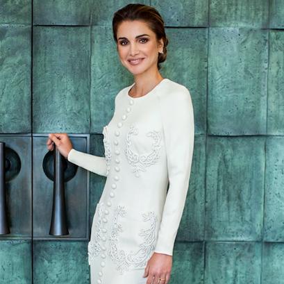 Her Majesty Queen Rania of Jordan Wears Saudi Designer Ashi Studio In New Birthday Portraits