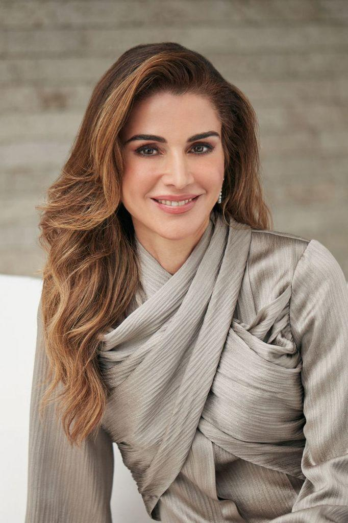 A Tribute to Lebanon: Queen Rania Wears Darin Hachem In A New Official Birthday Portrait