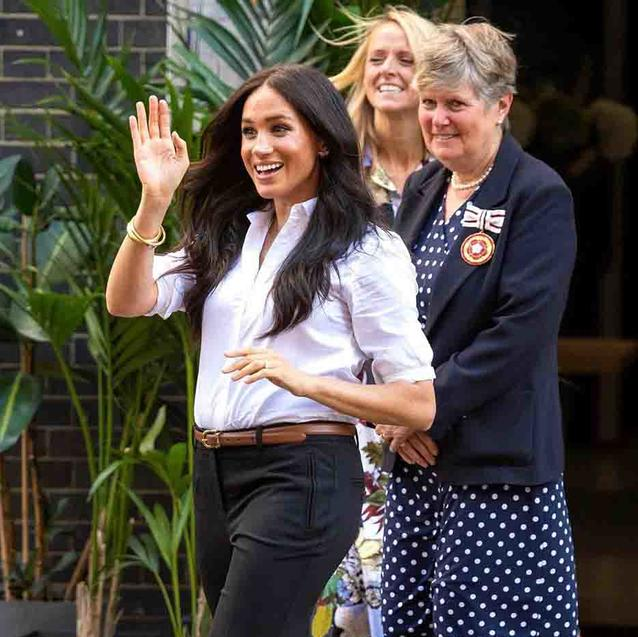 "The Duchess of Sussex Calls Confidence The ""Best Accessory"" In Smart Works Video Call"